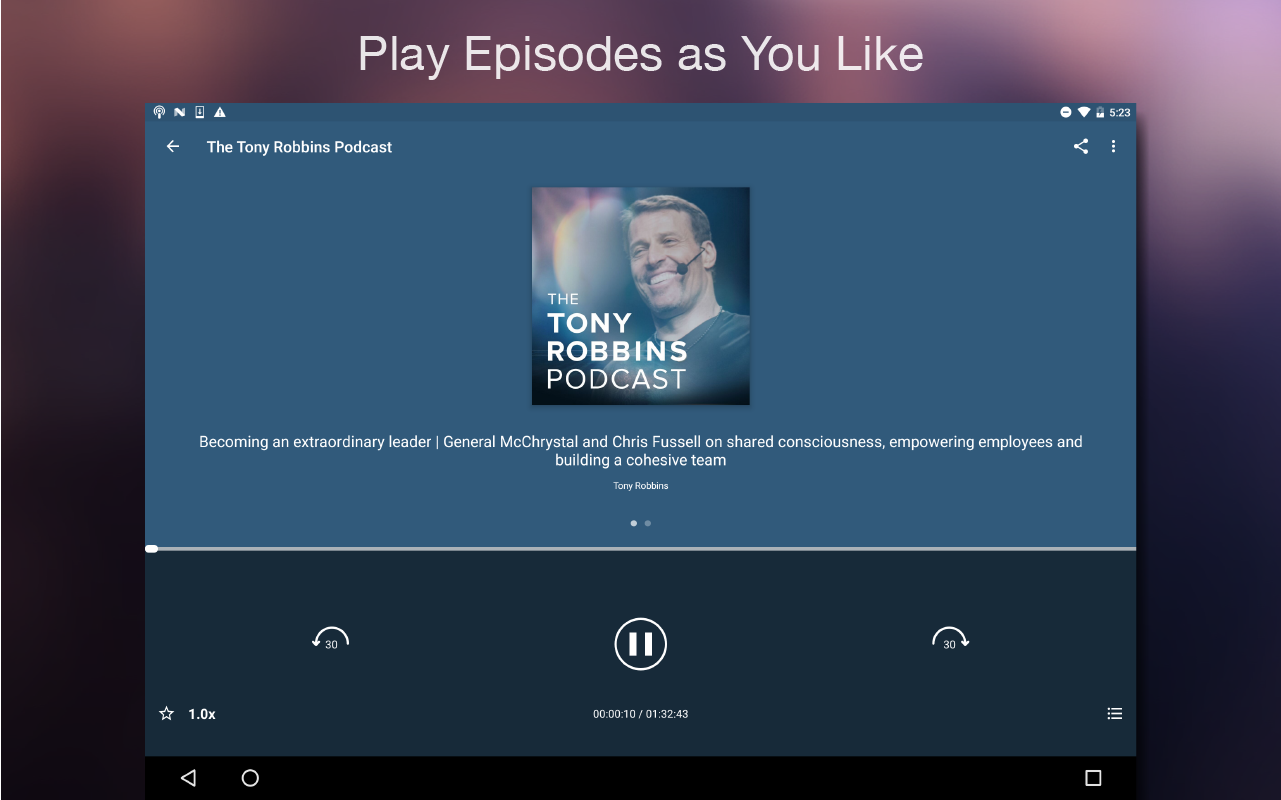Podcast Player- screenshot