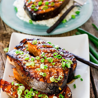 Maple Soy Grilled Salmon Steaks Recipe
