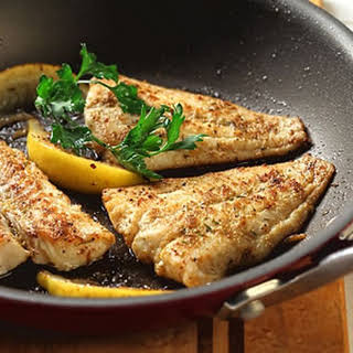 Cumin-Crusted Fish Fillet with Lemon.