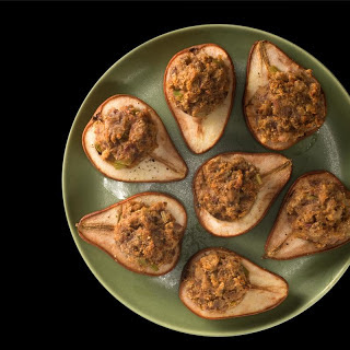 Sausage-Stuffed Baked Pears