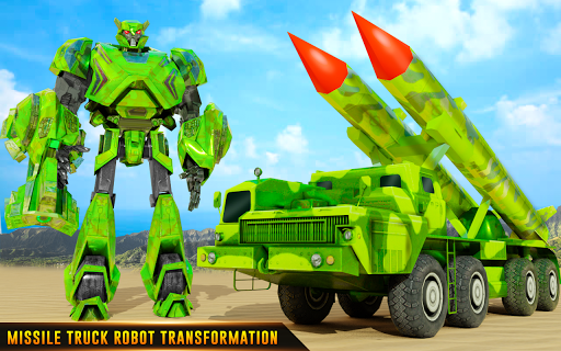 US Army Robot Missile Attack: Truck Robot Games modavailable screenshots 8