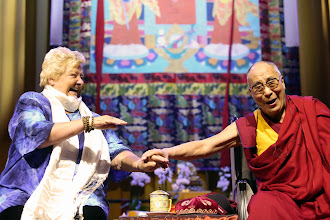 Photo: 11 May 2014 - HH dalai lama with Erica Terpstra - Ahoy Rotterdam - photo by Jeppe Schilder