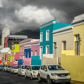 by Dale Youngkin - City,  Street & Park  Historic Districts ( historic district, city street, buildlings, bo kaap, architecture )