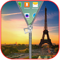 Paris Flag Zipper Lock Screen