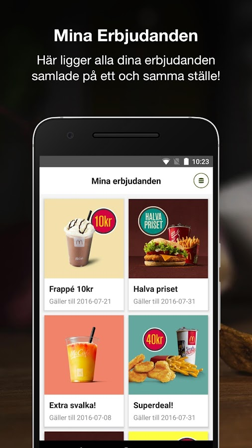 McDonald's Sverige- screenshot