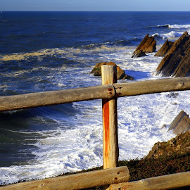 The sea by Gil Reis - Buildings & Architecture Other Exteriors ( nature, waves, ocean, travel, places, portugal, atlantic )