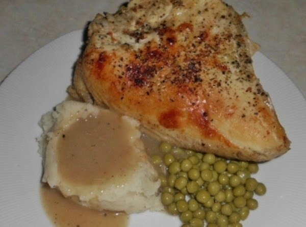 Roasted Chicken Breast With Taters And Gravy (made W/healthier Choices) Recipe