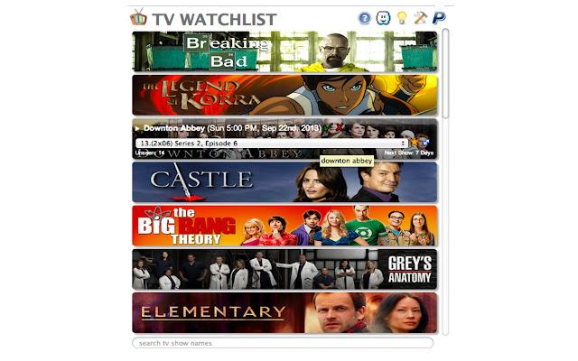 TV WatchList