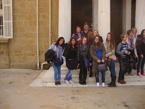 Photo: In front of the entrance of Archaeological Museum in Nicosia