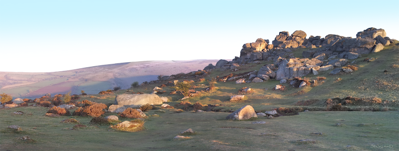 Photo: Dartmoor The Tor above Widecombe in the Moor. Wonderful to wake up to this sight!