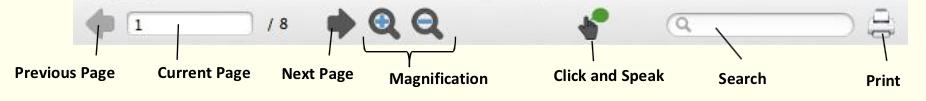 PDF Aloud toolbar