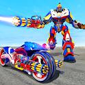 Police Moto Bike Robot Transform Bike -Robot Games icon