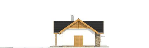 Modraszka bez garażu bliźniak B-BL1 - Elewacja prawa