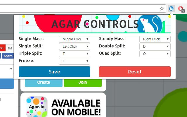 agar mouse control chrome web store