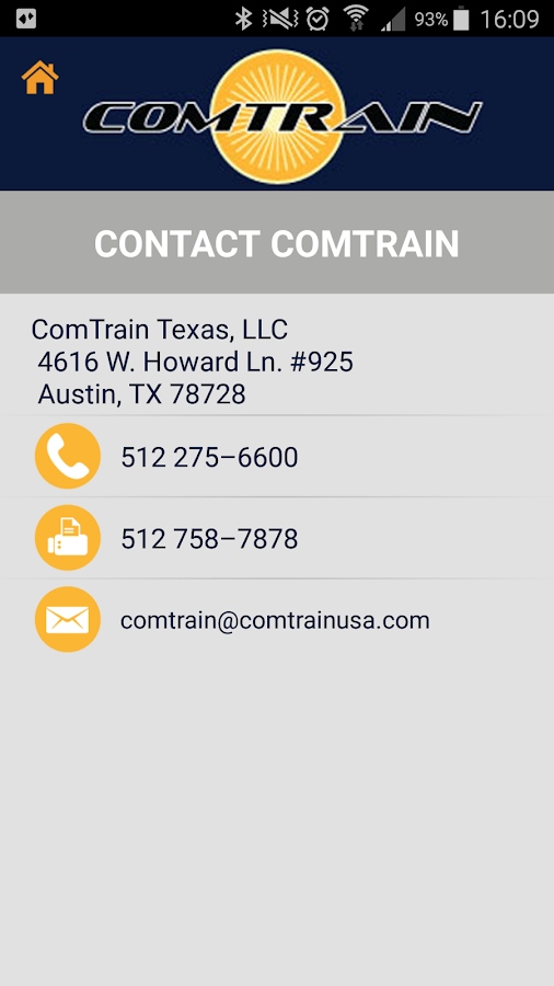 ComTrain Mobile- screenshot