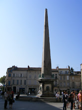 Photo: The church sits on the Place de la République, with this obelisk of Turkish marble at the center.