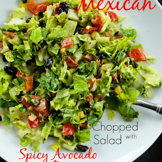 Mexican Chopped Salad with Spicy Avocado Dressing.