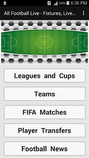 All Football Live - Fixtures, Live Scores, News 1.1 screenshots 2