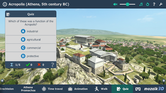 Acropolis interactive educational VR 3D- screenshot thumbnail