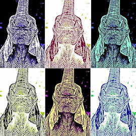 Warhol Elephant by Oliver by Oliver Petersen - Digital Art Animals