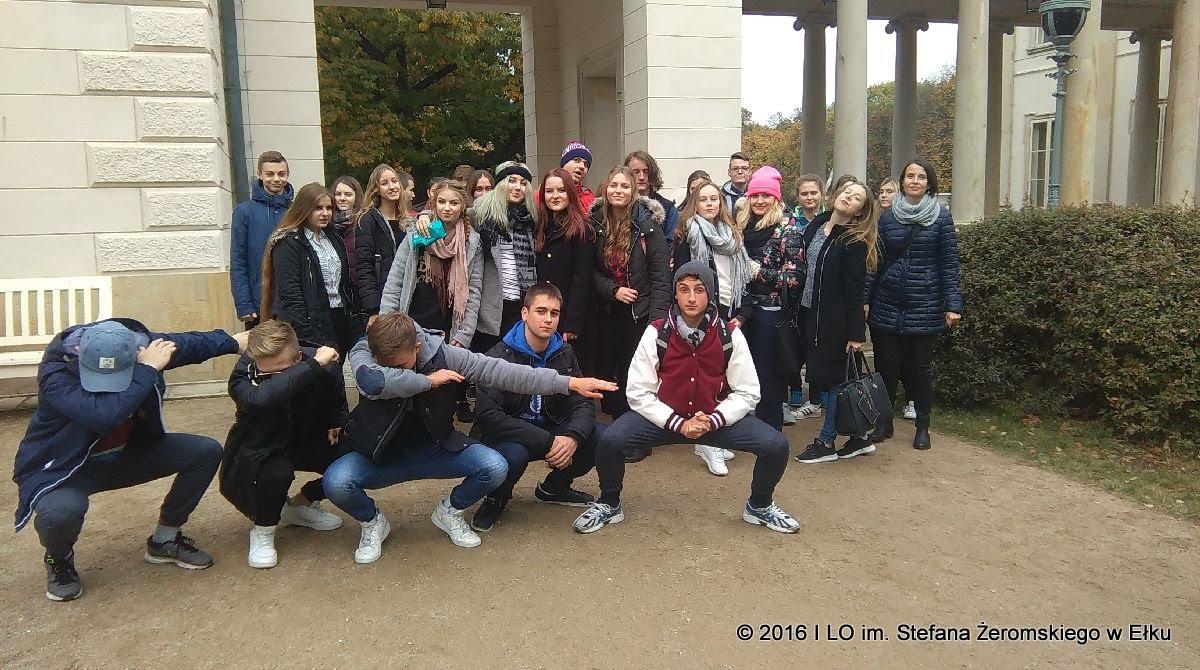 Wycieczka uczniów klas IB i IEF do Warszawy
