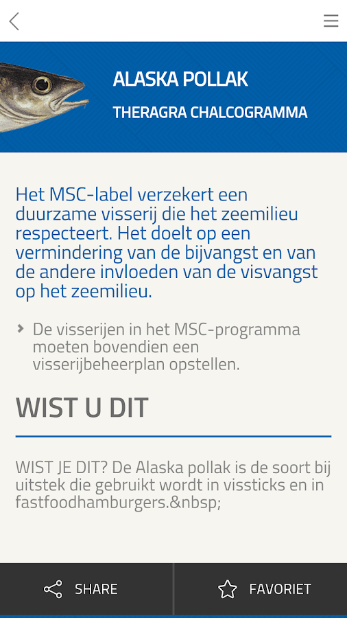 WWF Viswijzer: screenshot
