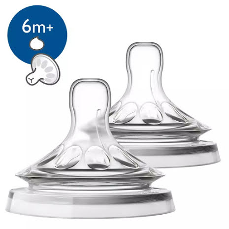 Philips Avent Natural-napp, 6m+, 2-pack