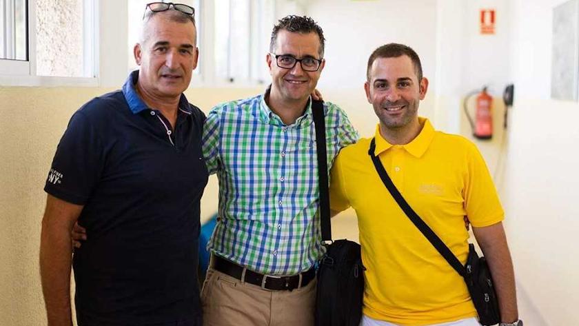 Juan Martínez Oliver, Rogelio Bucet y Sergio Domínguez.