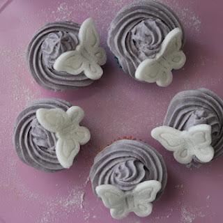Vanilla Lavender Vegan Cupcakes.