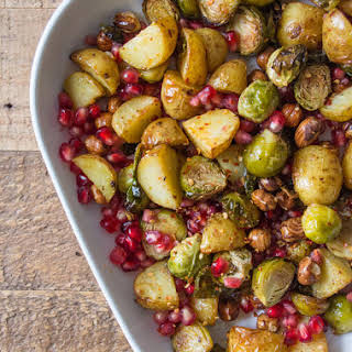 Roasted Maple Sprouts with Hazelnuts.