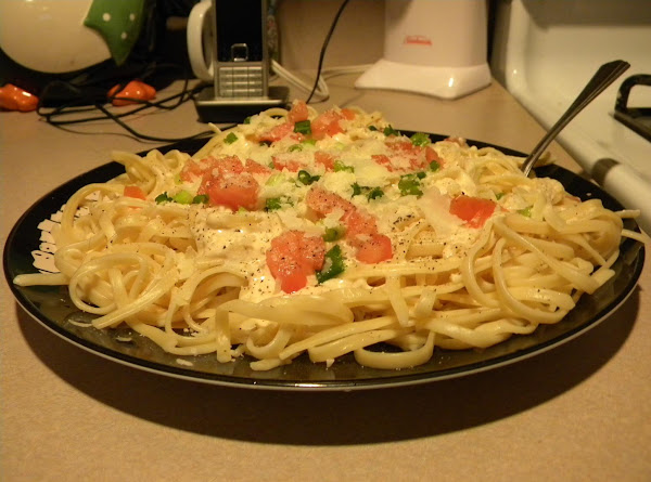 Fettucine Alfredo With Vegetables Recipe