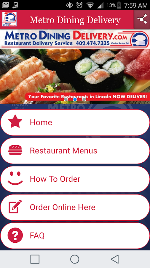 Metro Dining Delivery- screenshot