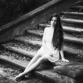 Captivating Beauty... by Andy Dyso - Black & White Portraits & People