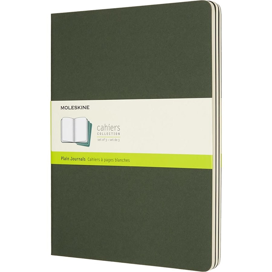 3 x Cahier Journal XL Green