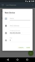Screenshot of LAN WakeUp!