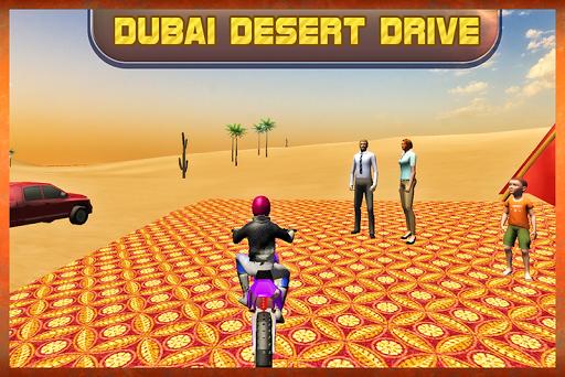 ドバイ砂漠モトドライバ