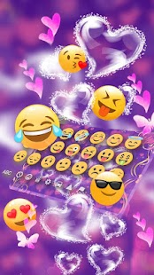 Purple Love Flower Keyboard Theme - náhled