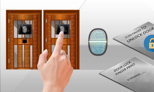 门锁指纹恶作剧