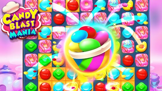 Candy Blast Mania Match 3 Puzzle Game 1.4.2 Mod (Unlimited Money) 2