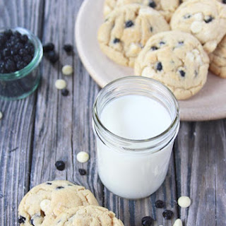 Wild Blueberry and White Chocolate Chip Cookies