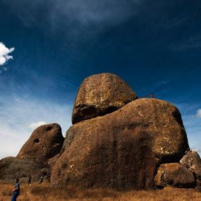 Big big rocks by Cristobal Garciaferro Rubio - Nature Up Close Rock & Stone ( clouds, sky, mexico, tapatlpa, rocks, big rocks )