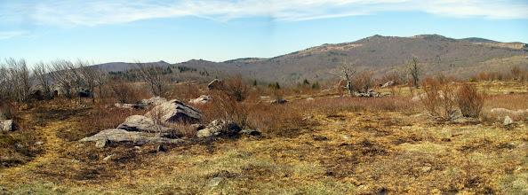 Photo: Haw Orchard Mountain and Wilburn Ridge from Stone Mountain.
