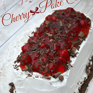 123 Jello Cherry Poke Cake for Holiday Dessert