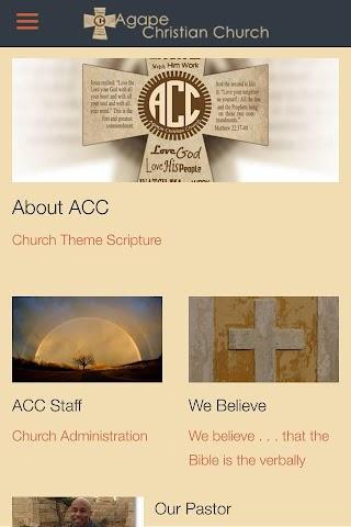 android Agape Christian Church Screenshot 2