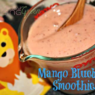 Mango Blueberry Smoothies.