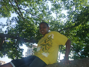 Photo: Miles in the Kapok tree
