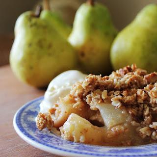 Pear Almond Crisp