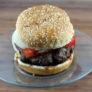 Grilled Sirloin Steak Burgers with Homemade Steak Sauce.