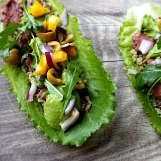 BEAUTIFYING VEGAN GLUTEN-FREE QUINOA BEAN LETTUCE WRAPS