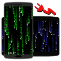 Matrix Screensaver with battery and time icon